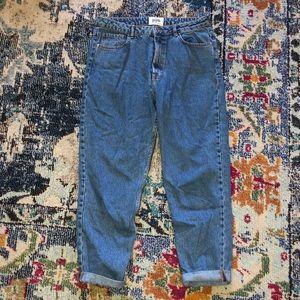 Zara Authentic Denim Mom Jeans High Waist Size 10